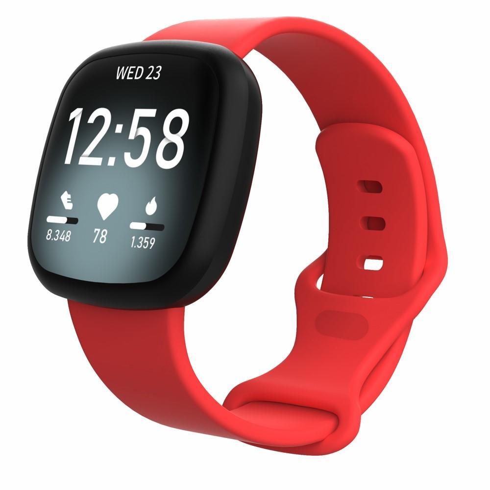 Silikonarmbånd Fitbit Versa 3/Sense rød (Small)