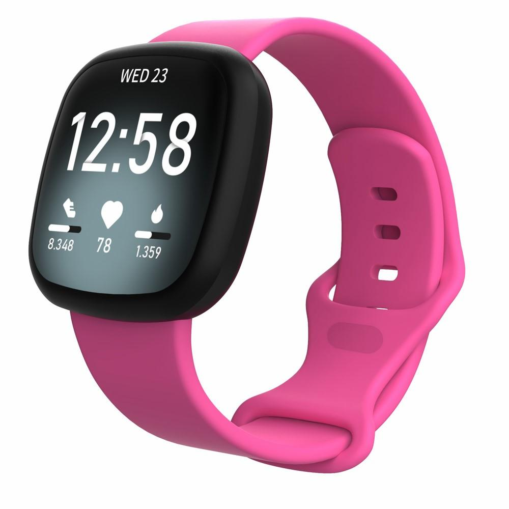 Silikonarmbånd Fitbit Versa 3/Sense rosa (Small)