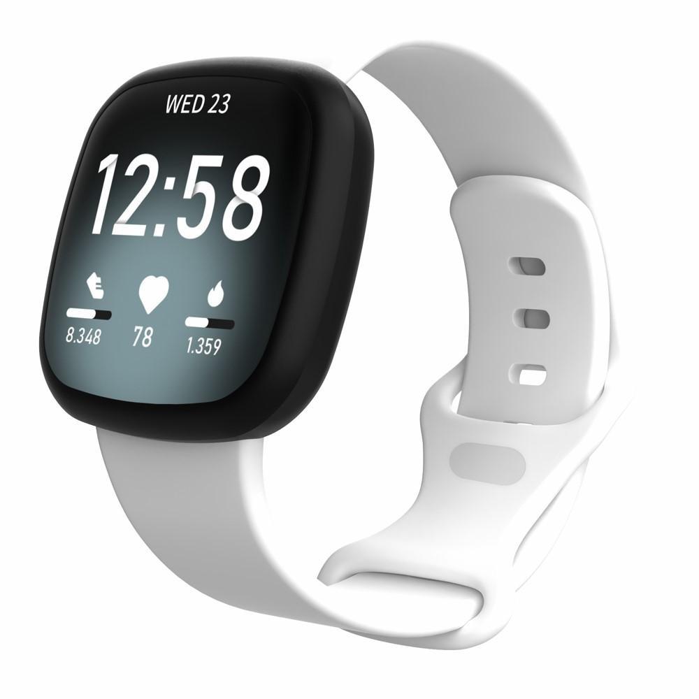Silikonarmbånd Fitbit Versa 3/Sense hvit (Small)
