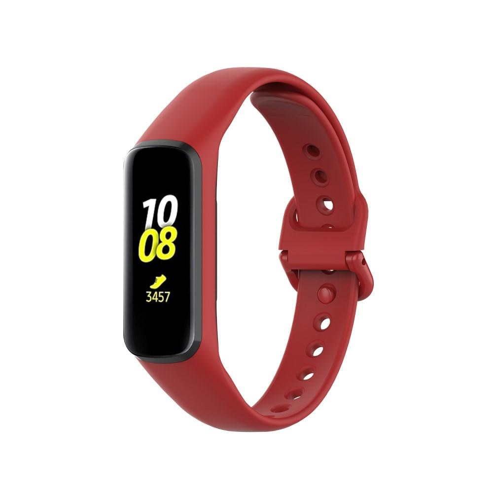 Silikonarmbånd Samsung Galaxy Fit 2 rød