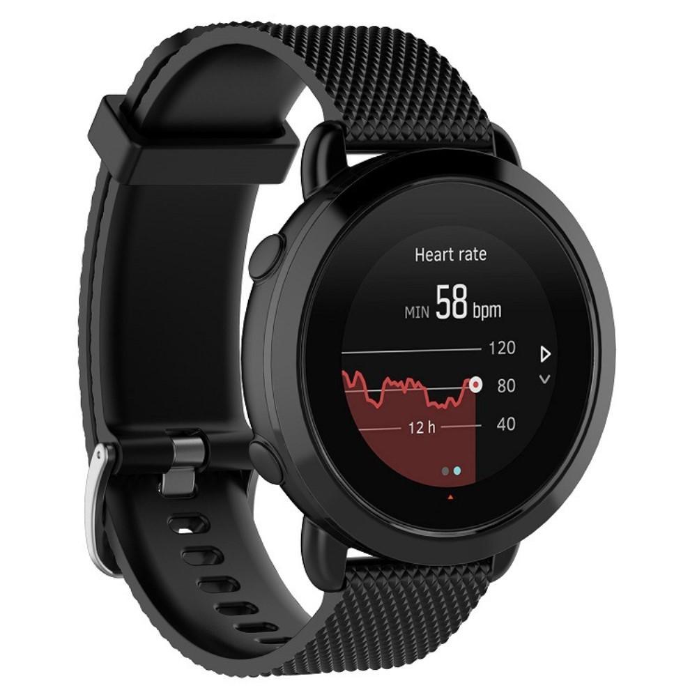 Silikonarmbånd Suunto 3 Fitness svart