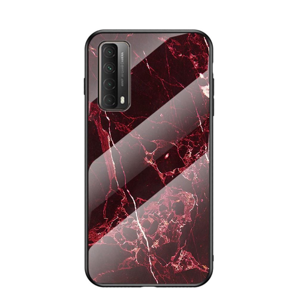 Herdet Glass Deksel Huawei P Smart 2021 rød marmor