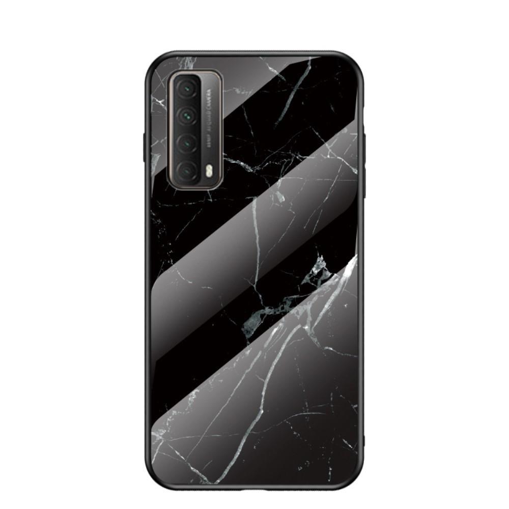 Herdet Glass Deksel Huawei P Smart 2021 svart marmor