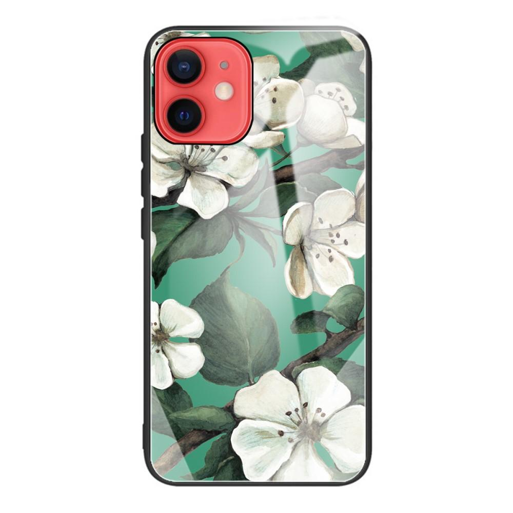 Herdet Glass Deksel iPhone 12 Mini blomster