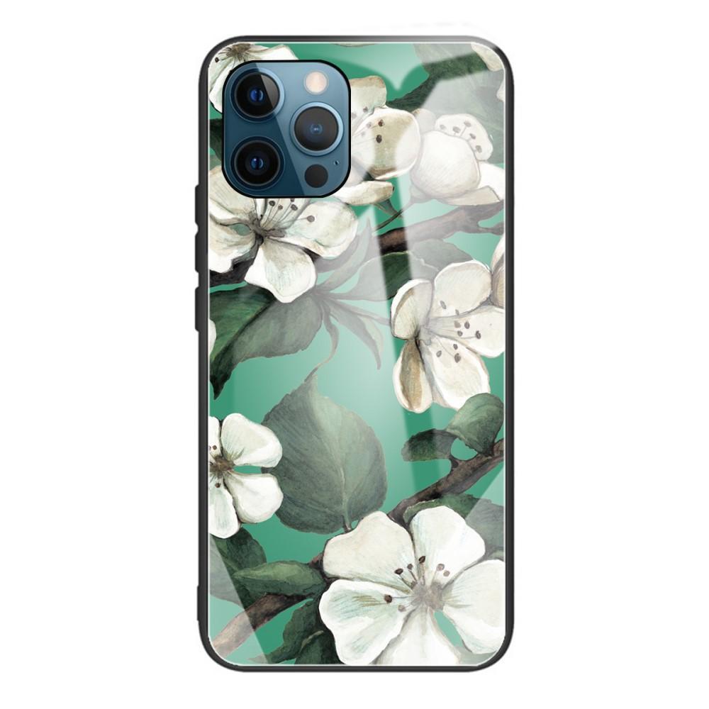 Herdet Glass Deksel iPhone 12 Pro Max blomster