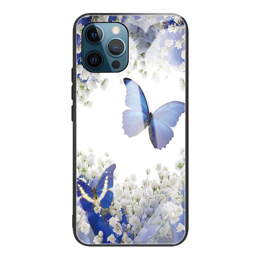 Herdet Glass Deksel iPhone 12 Pro Max sommerfugler