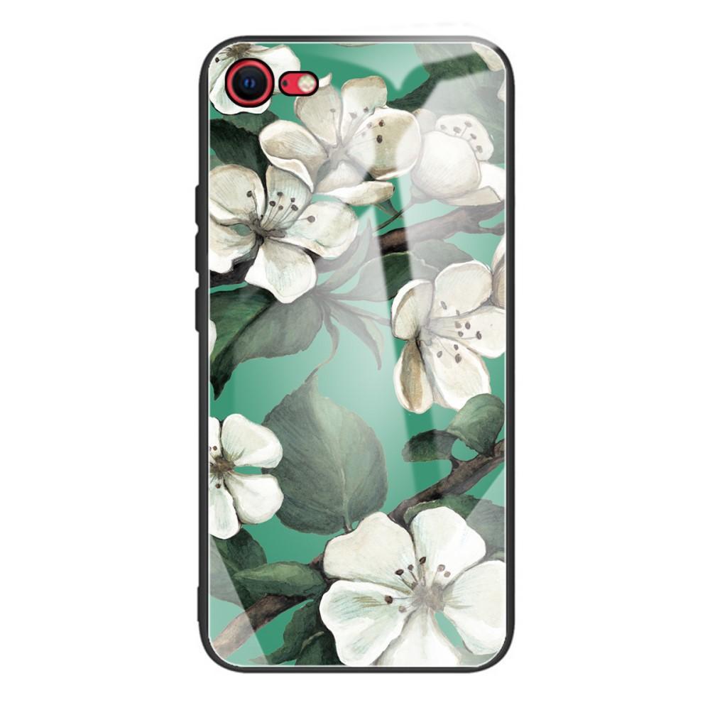 Herdet Glass Deksel iPhone 7/8/SE 2020 blomster