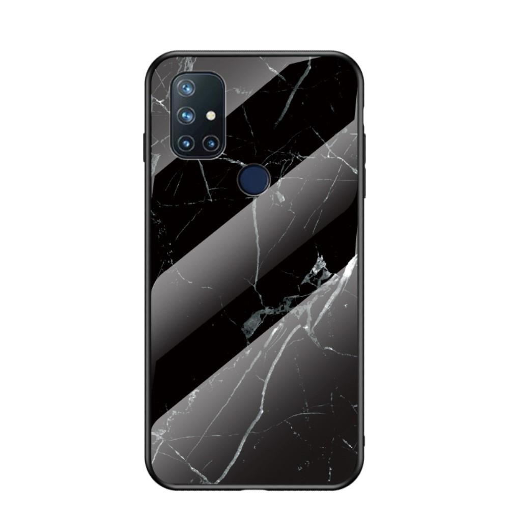 Herdet Glass Deksel OnePlus Nord N10 5G svart marmor