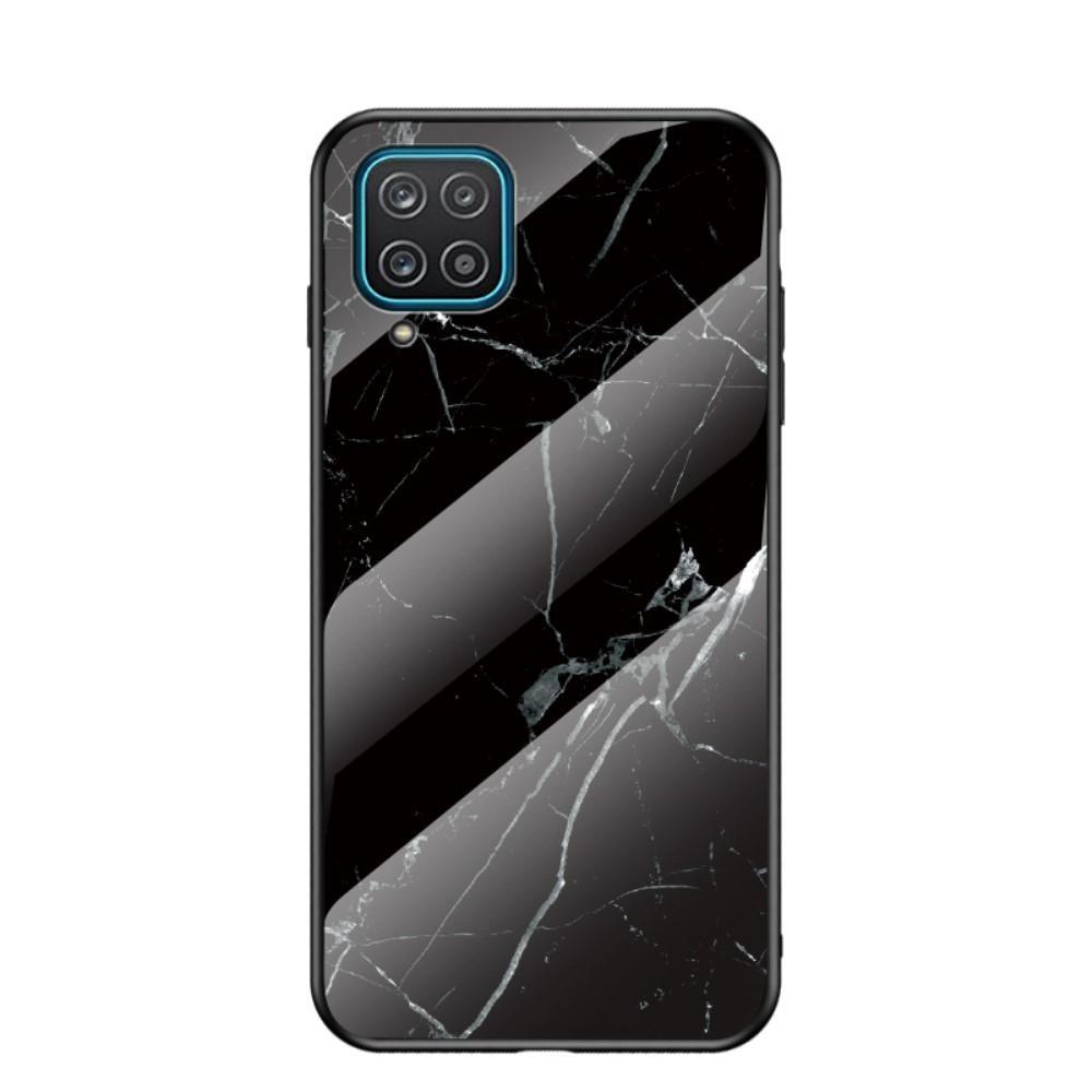 Herdet Glass Deksel Samsung Galaxy A12 svart marmor