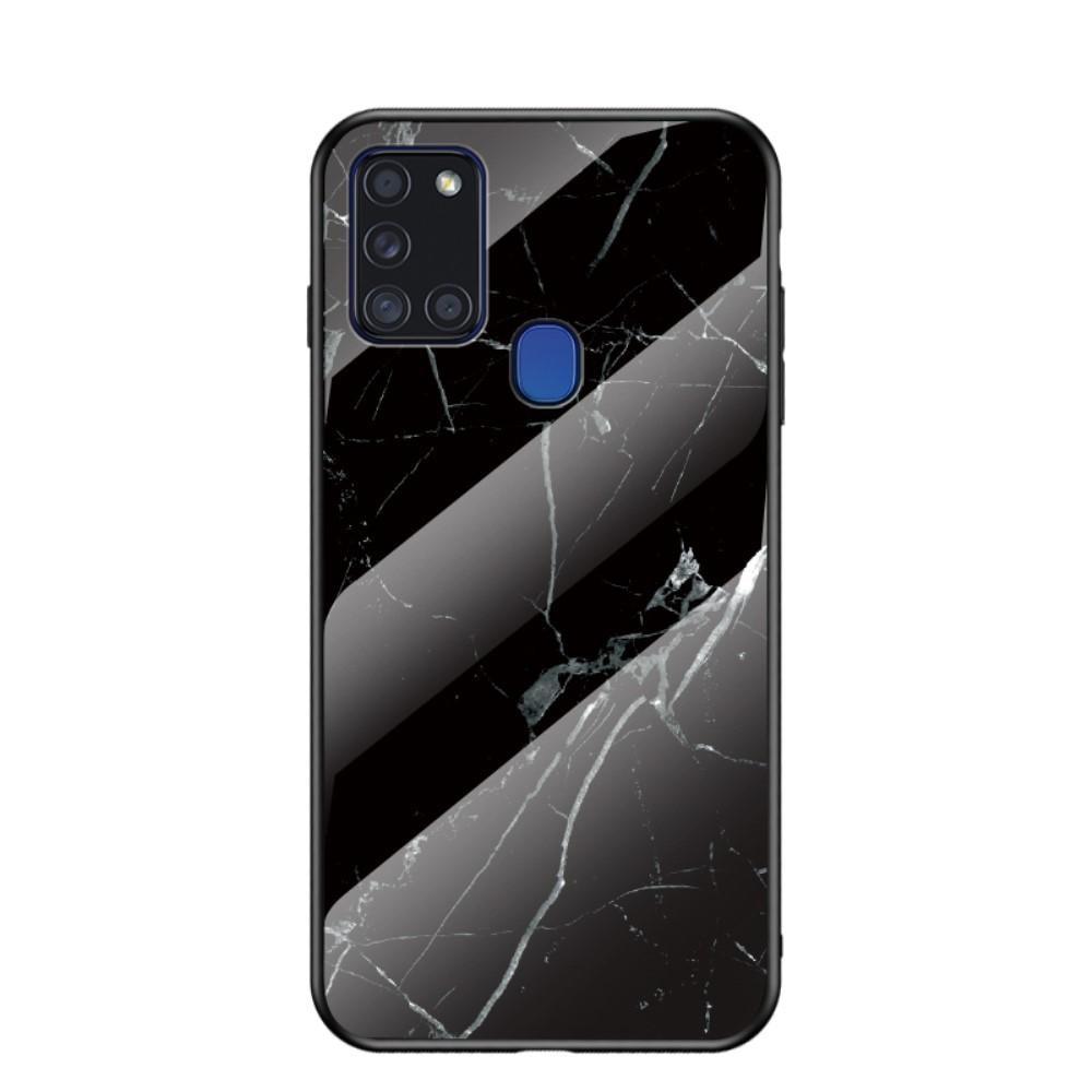 Herdet Glass Deksel Samsung Galaxy A21s svart marmor