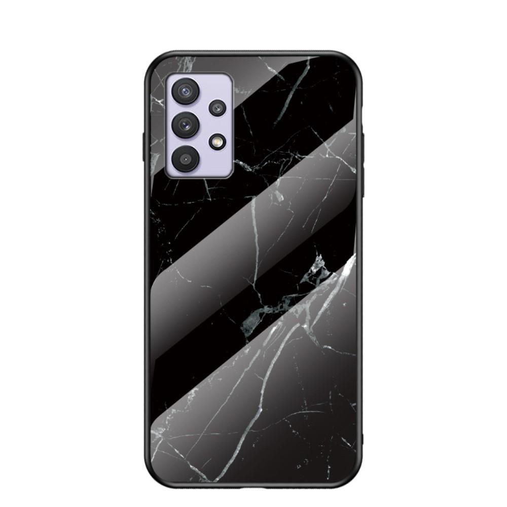 Herdet Glass Deksel Samsung Galaxy A32 5G svart marmor