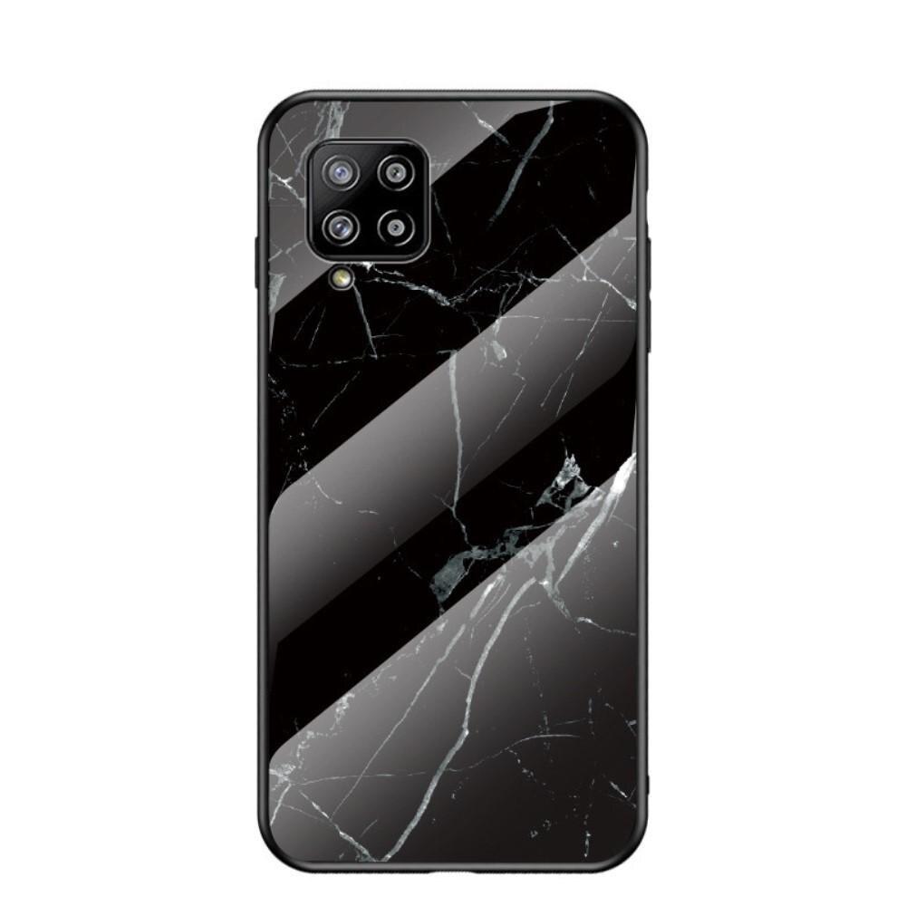 Herdet Glass Deksel Samsung Galaxy A42 5G svart marmor