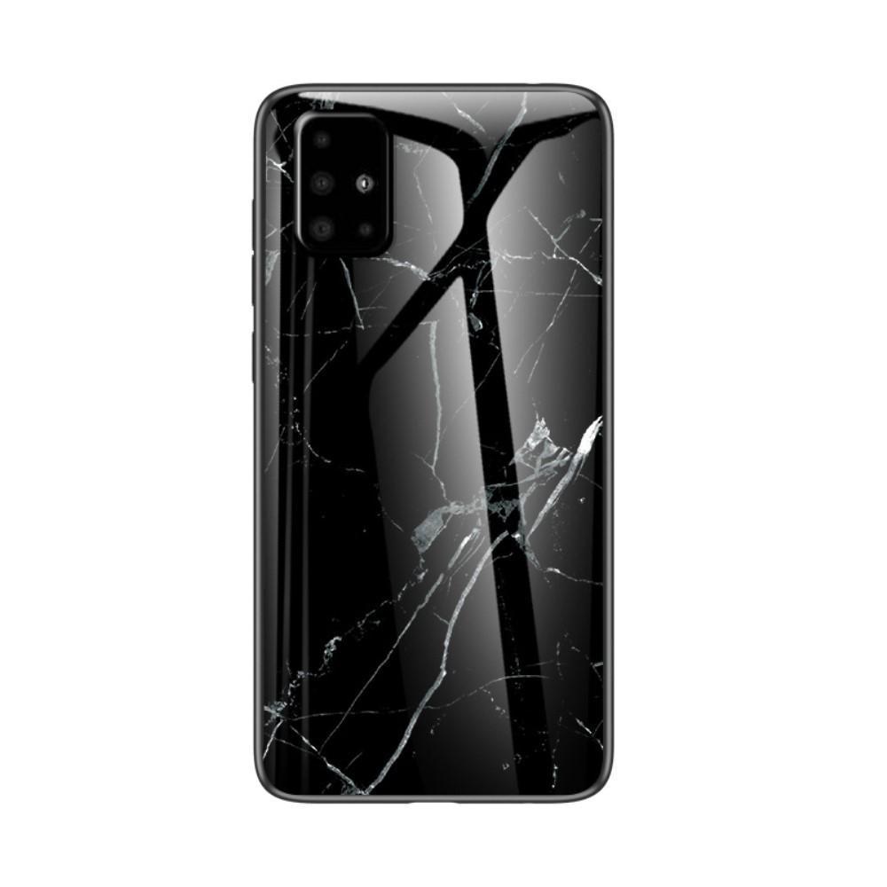 Herdet Glass Deksel Samsung Galaxy A51 svart marmor