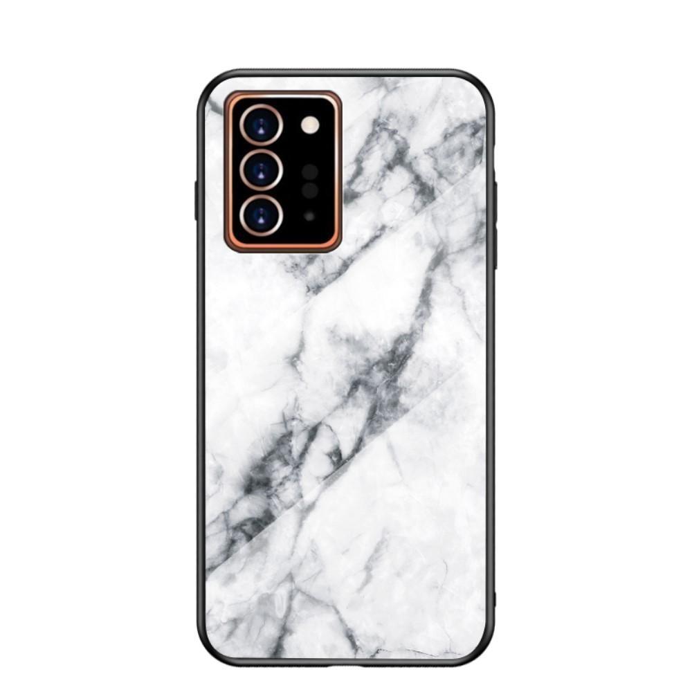 Herdet Glass Deksel Samsung Galaxy Note 20 Ultra vit marmor