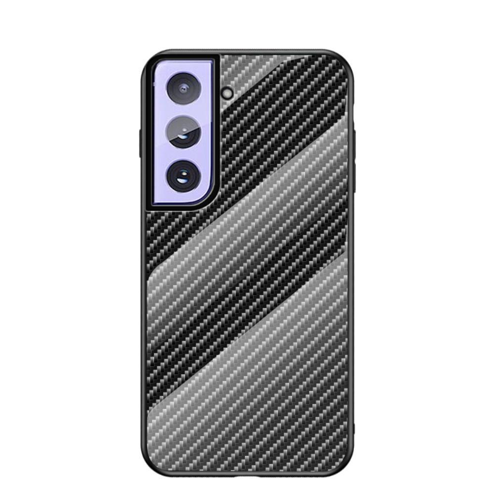 Herdet Glass Deksel Samsung Galaxy S21 karbonfiber