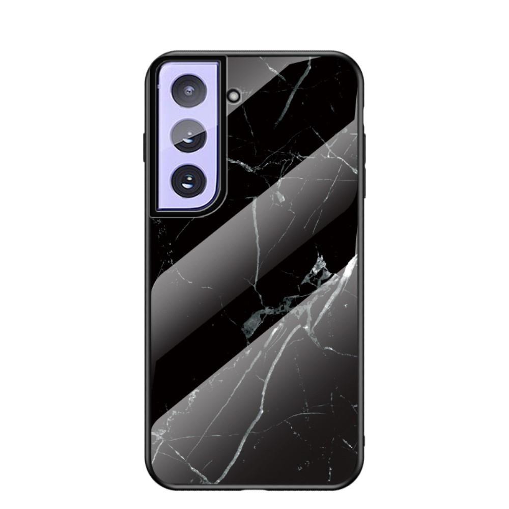 Herdet Glass Deksel Samsung Galaxy S21 Plus svart marmor
