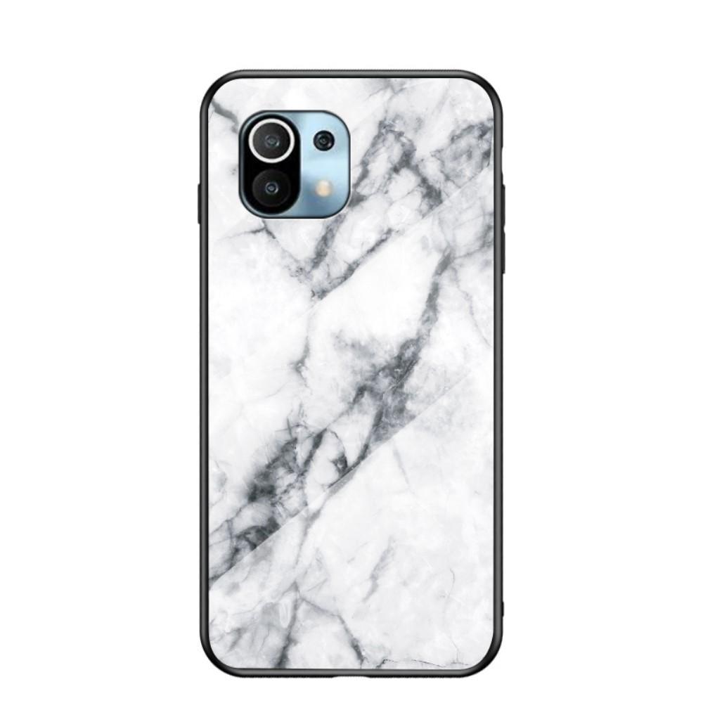 Herdet Glass Deksel Xiaomi Mi 11 vit marmor