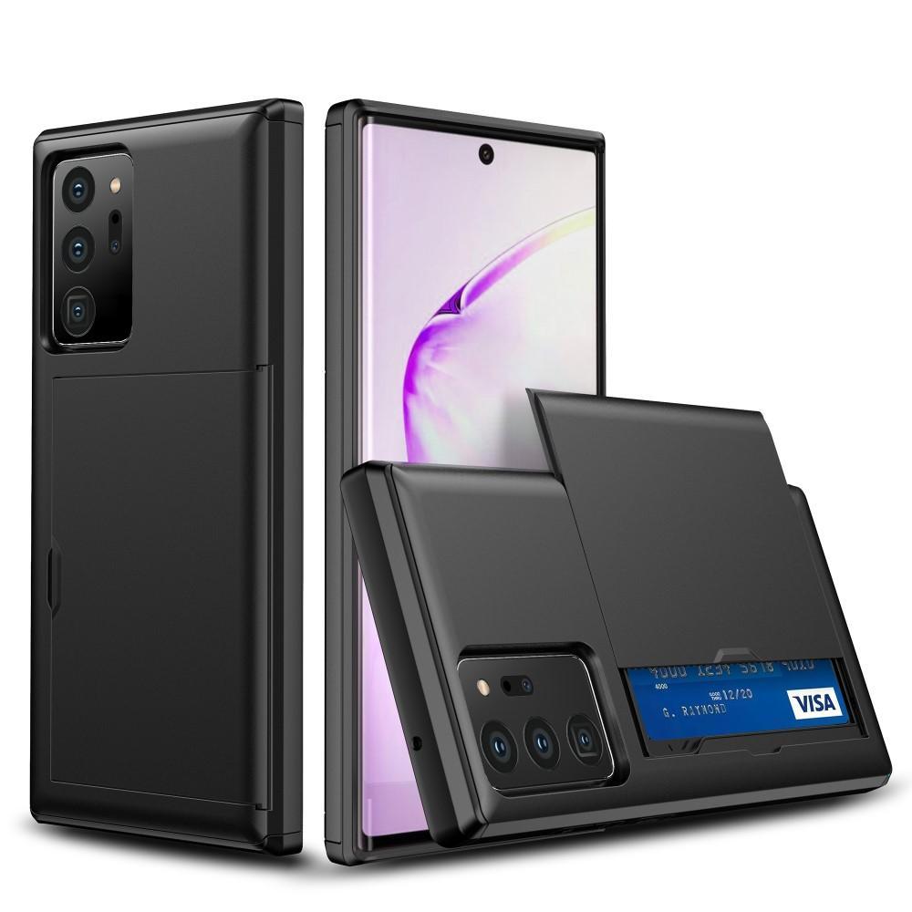 Deksel Kortholder Samsung Galaxy Note 20 Ultra svart