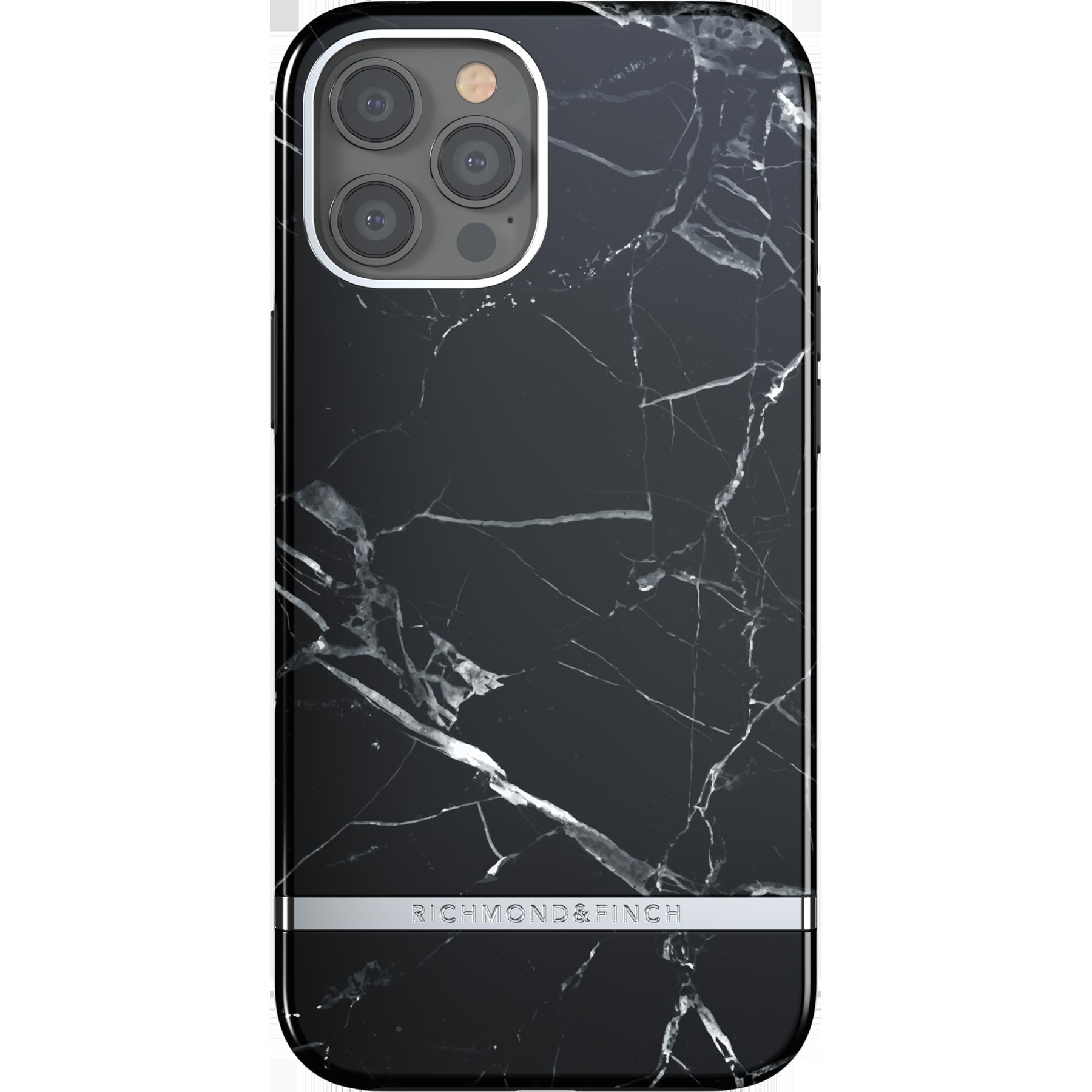Deksel iPhone 12 Pro Max Black Marble