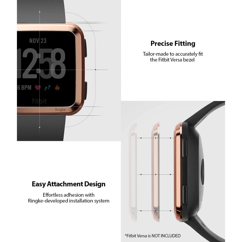 Bezel Styling Fitbit Versa Glossy Pink Gold