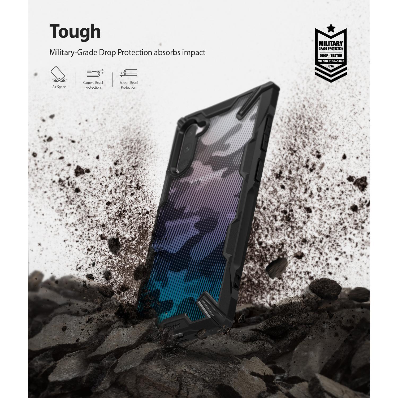 Fusion X Design Case Galaxy Note 10 Camo Black