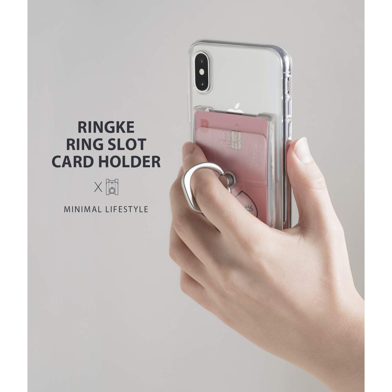 Ring Slot Card Holder Clear Mist
