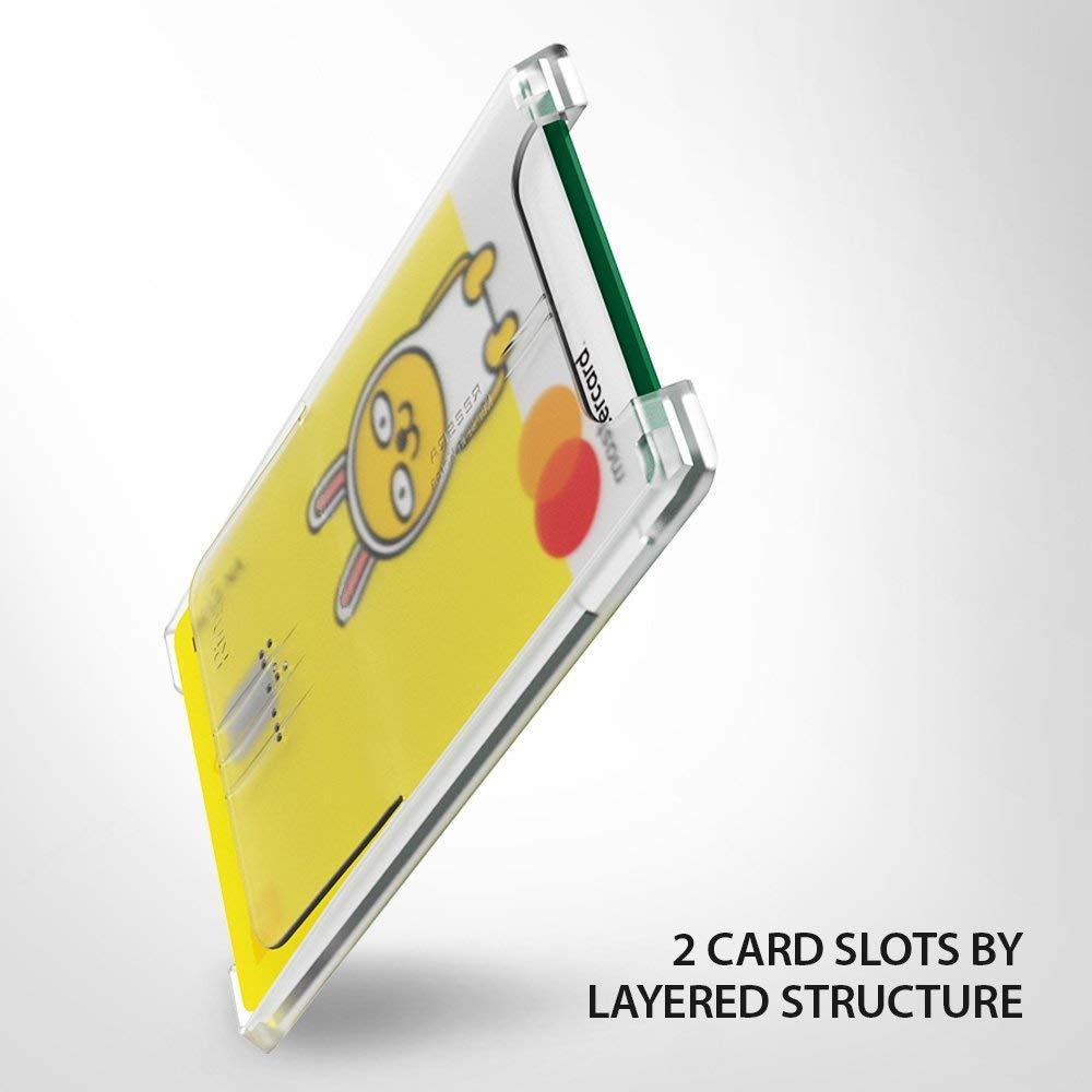 Slot Card Holder Clear Mist