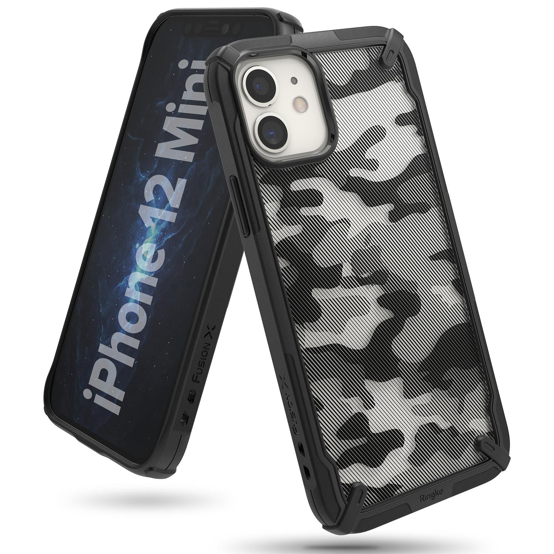 Fusion X Design Case iPhone 12 Mini Camo Black