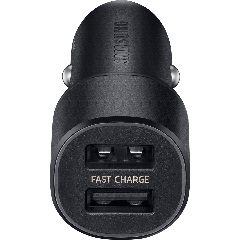 Dual Car Fast Charger 15W USB-C Black