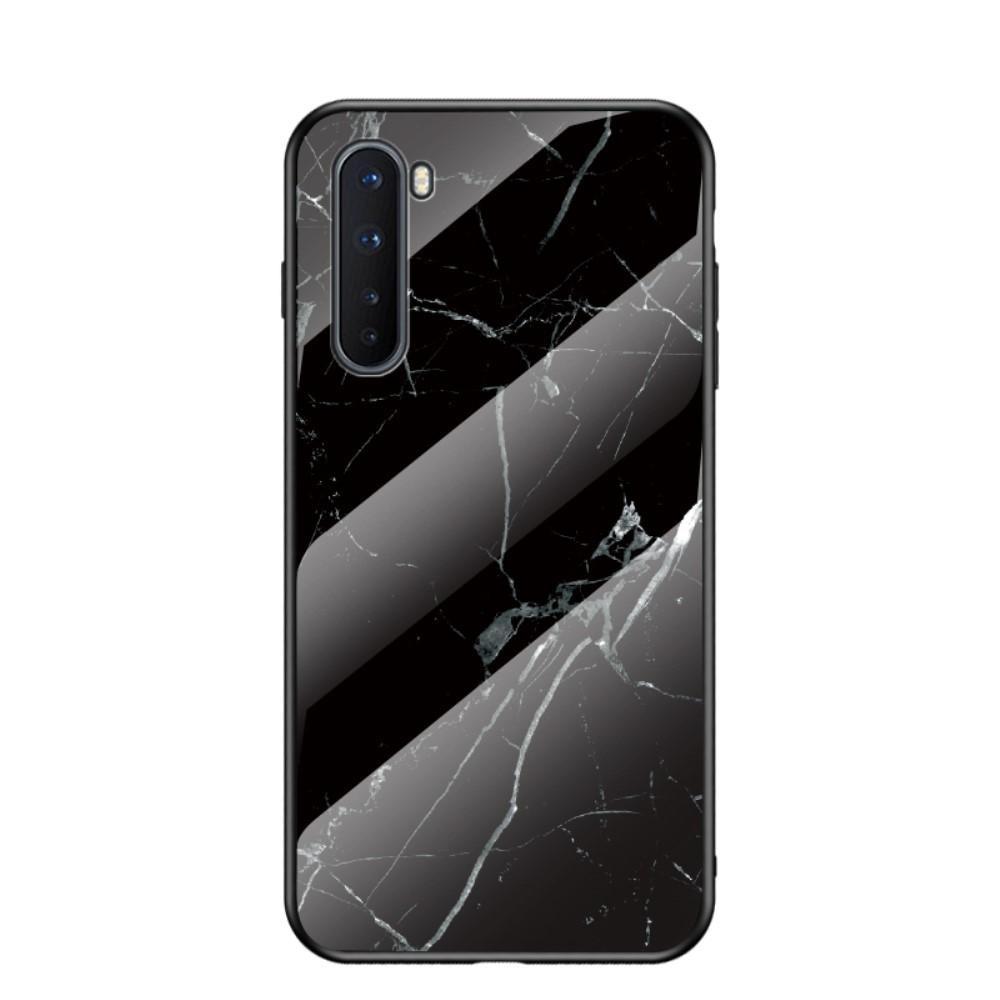 Herdet Glass Deksel OnePlus Nord svart marmor