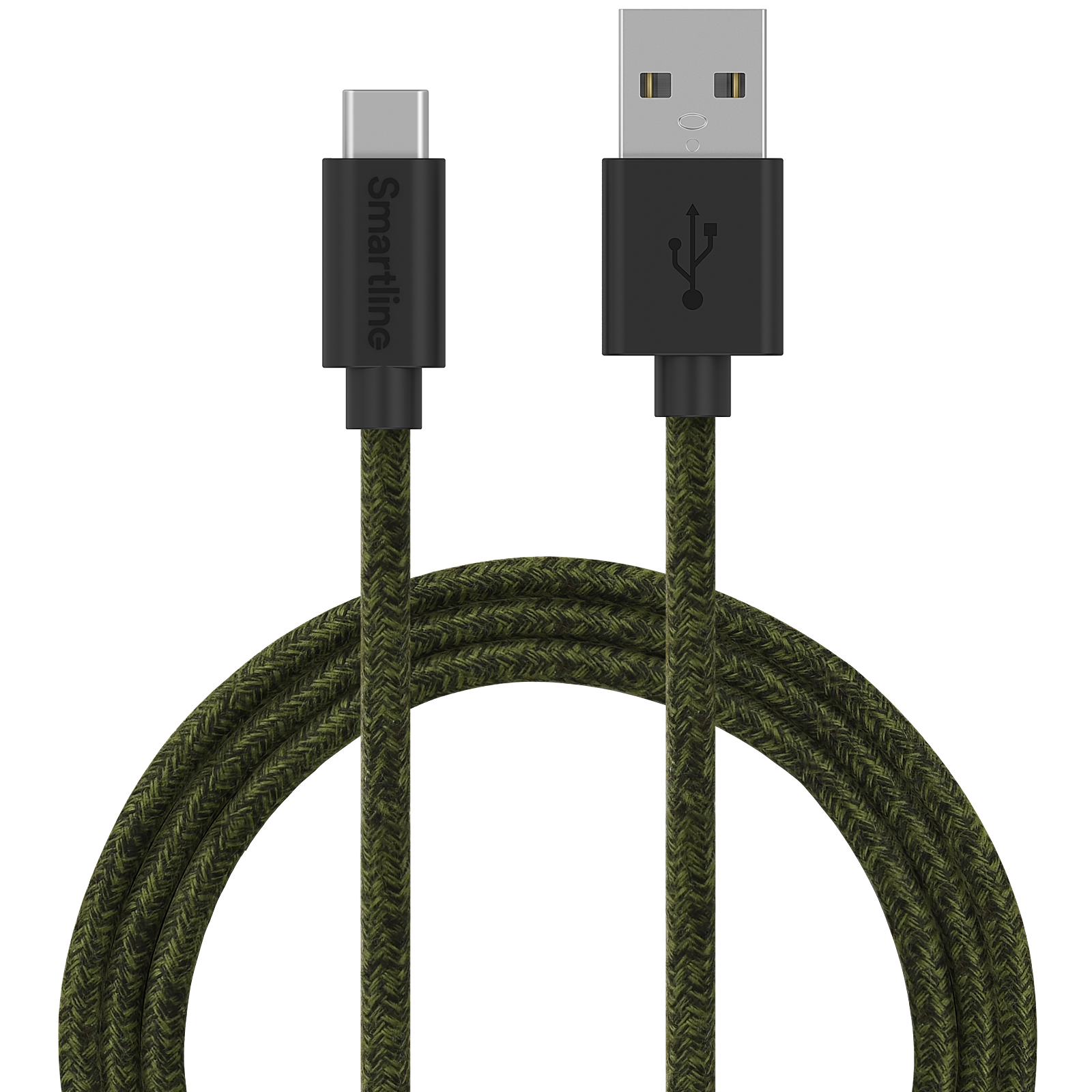 Fuzzy USB Cable USB-C 2m Green