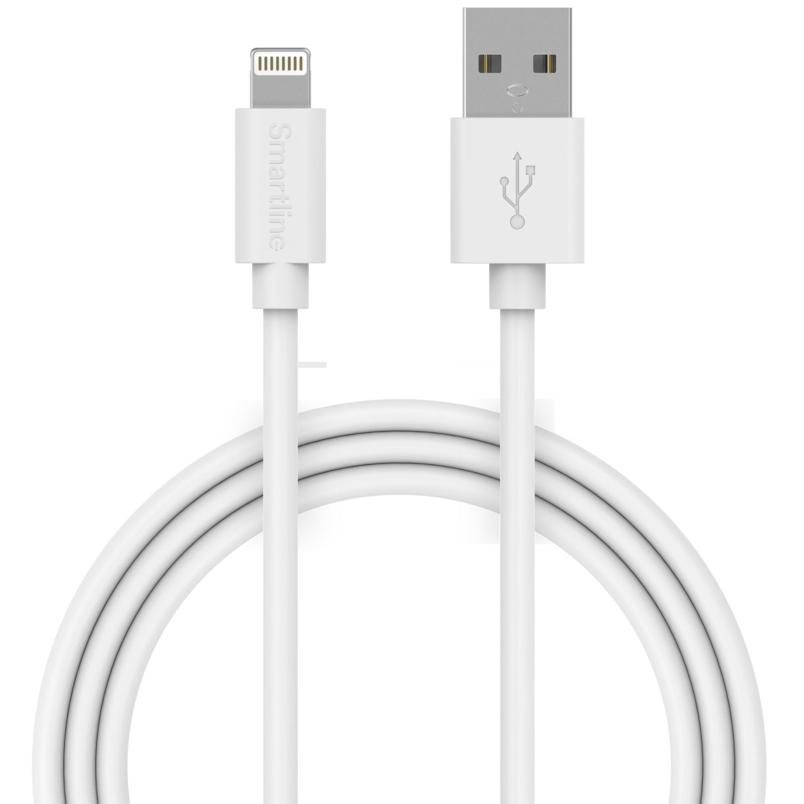 USB Cable Lightning 1m hvit