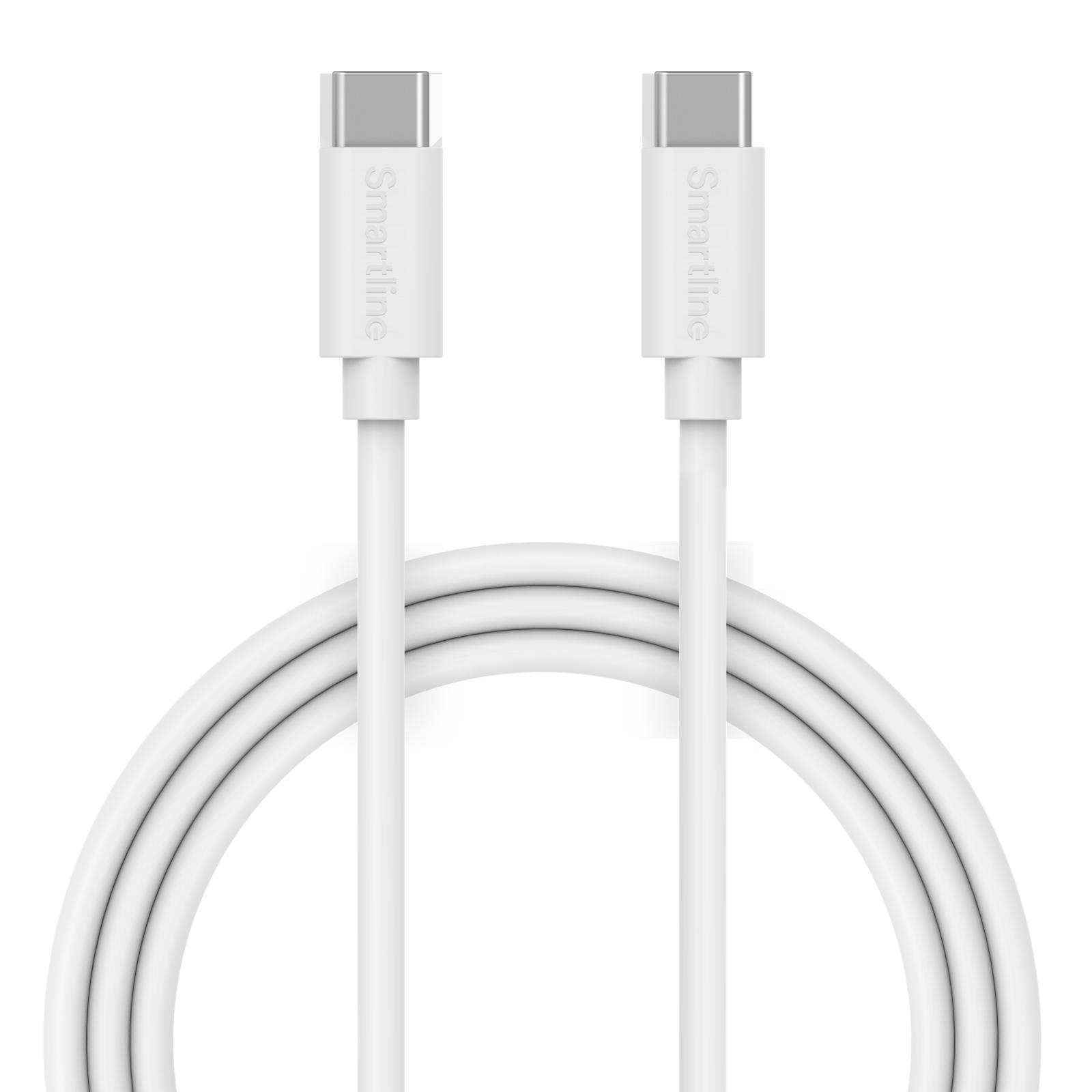 USB Cable USB-C <-> USB-C 1m hvit