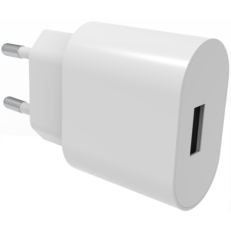 USB Wall Charger 2.4A hvit