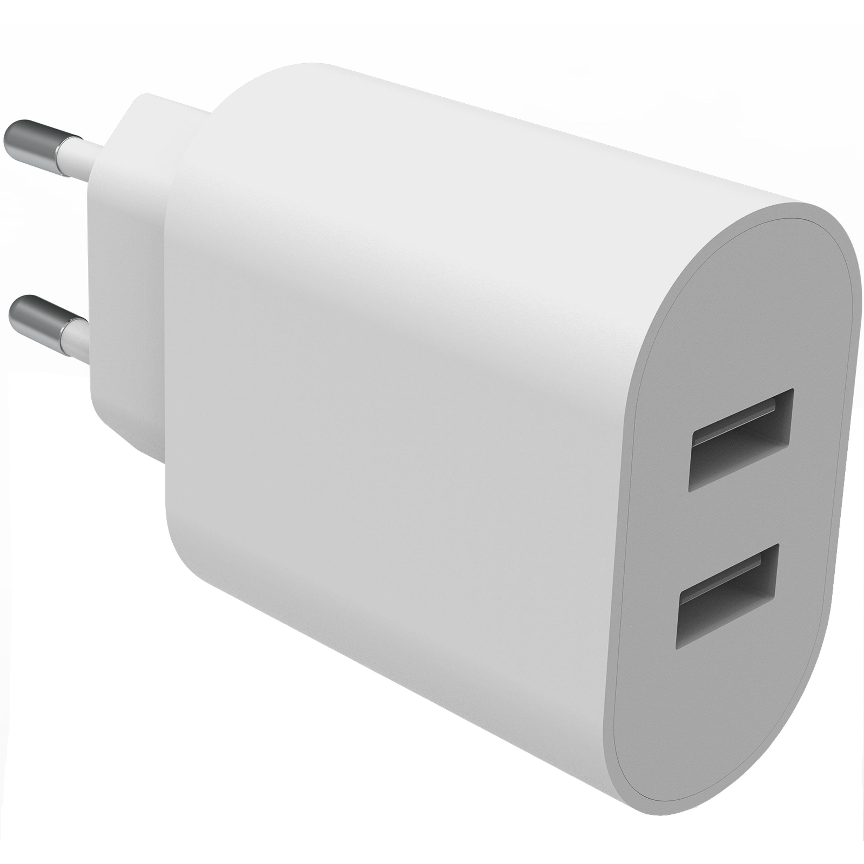 Dual USB Wall Charger hvit