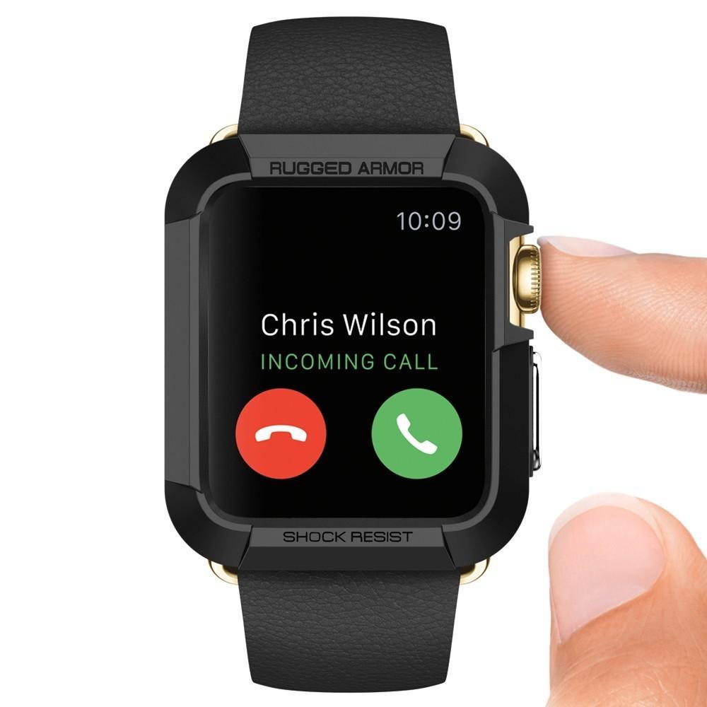 Apple Watch 42mm Rugged Armor Case svart