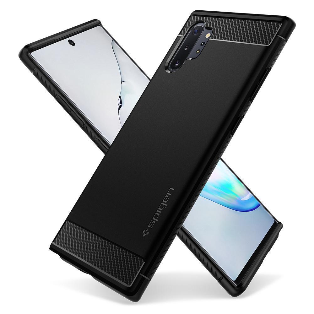 Galaxy Note 10 Plus Case Rugged Armor Black
