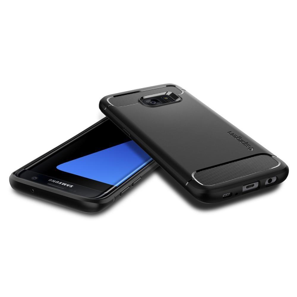 Galaxy S7 Edge Rugged Armor Case Black
