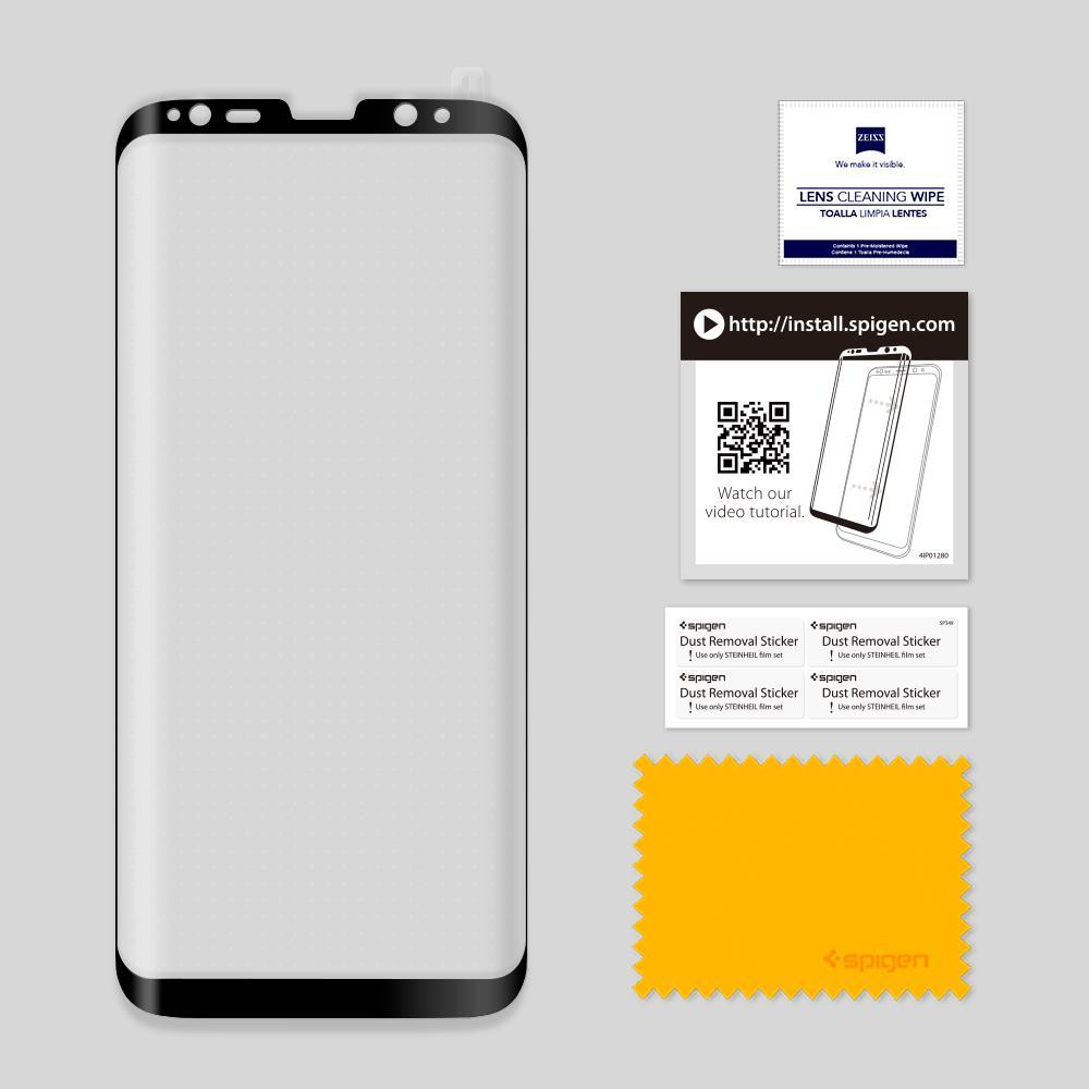 Galaxy S8 Plus Screen Protector GLAS.tR Full Cover Glass