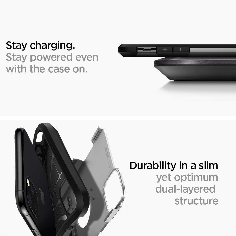 iPhone 11 Pro Case Tough Armor Satin Silver