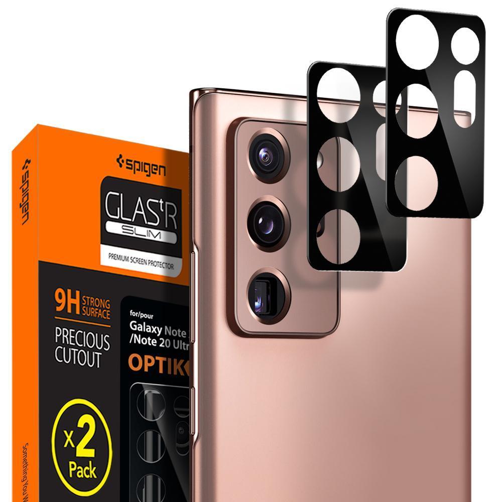 Galaxy Note 20 Ultra Optik Lens Protector Black (2-pack)