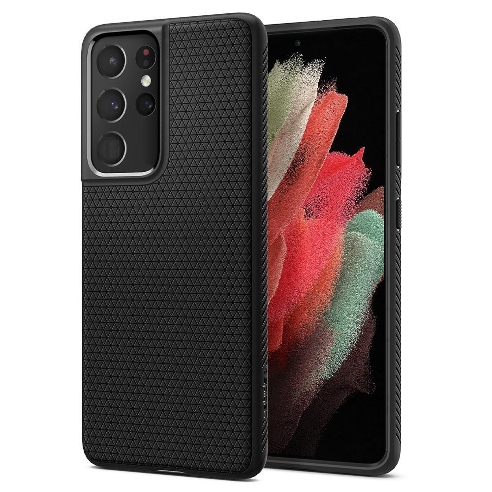 Galaxy S21 Ultra Case Liquid Air Black