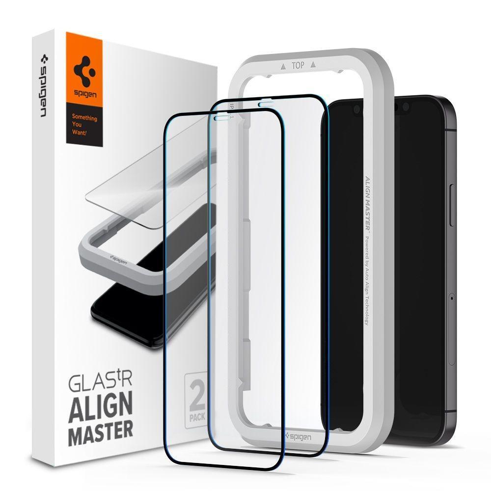 iPhone 12 Mini AlignMaster GLAS.tR (2-pack) Black