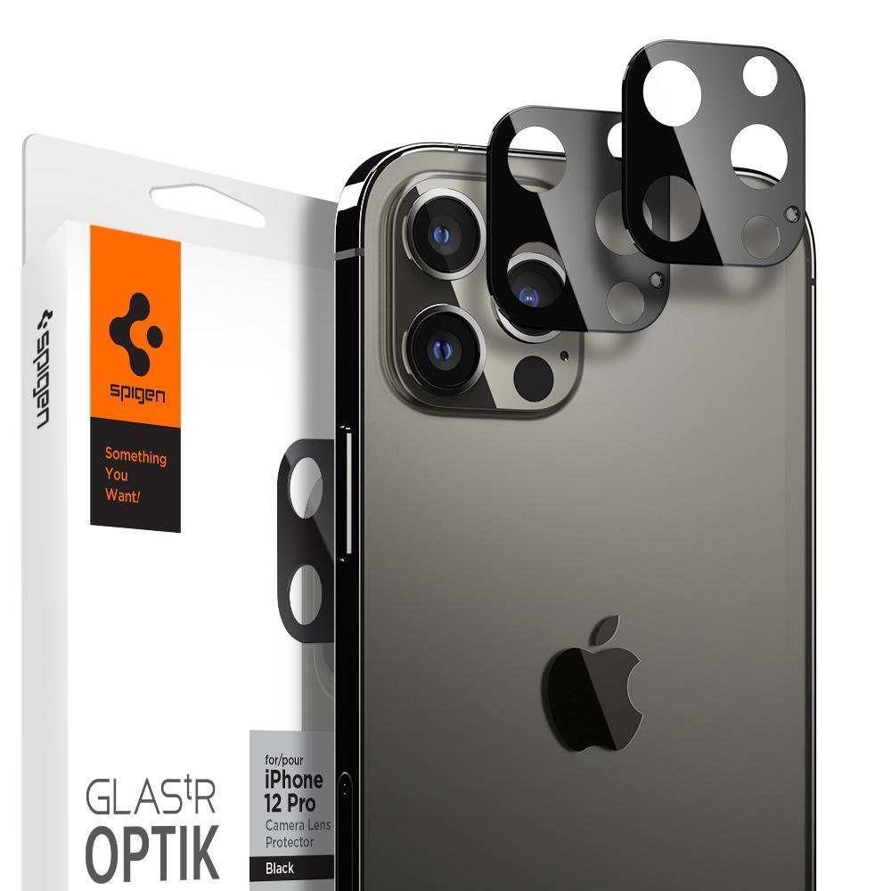 iPhone 12 Pro Max Optik Lens Protector Black (2-pack)