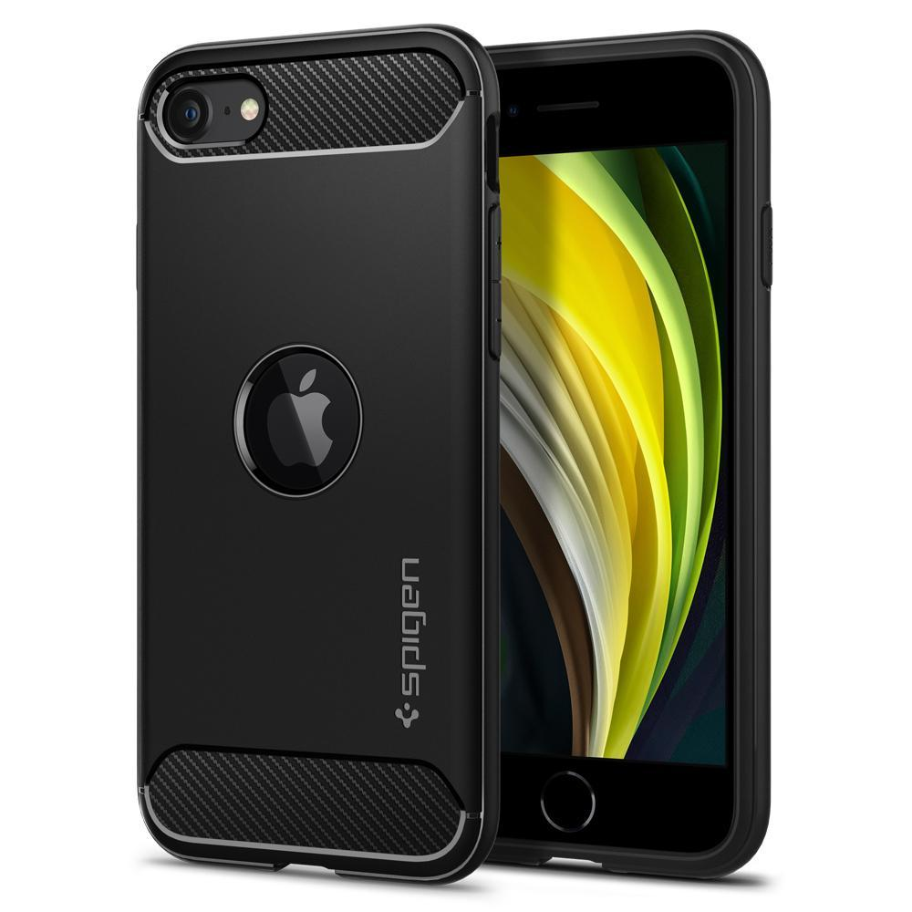 iPhone SE 2020 Case Rugged Armor Black