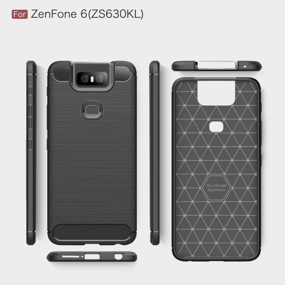 Brushed TPU Deksel Asus ZenFone 6 Black