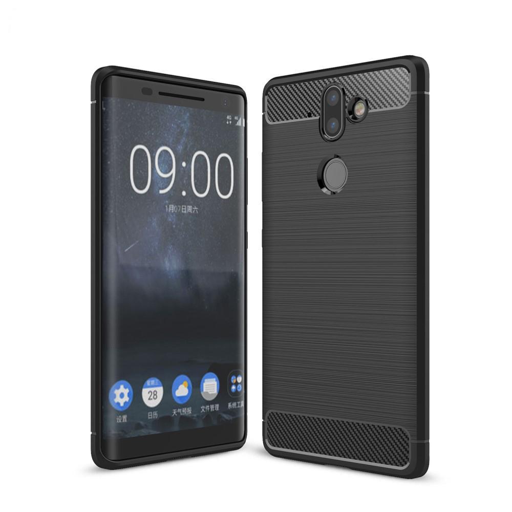 Brushed TPU Deksel Nokia 8 Sirocco black