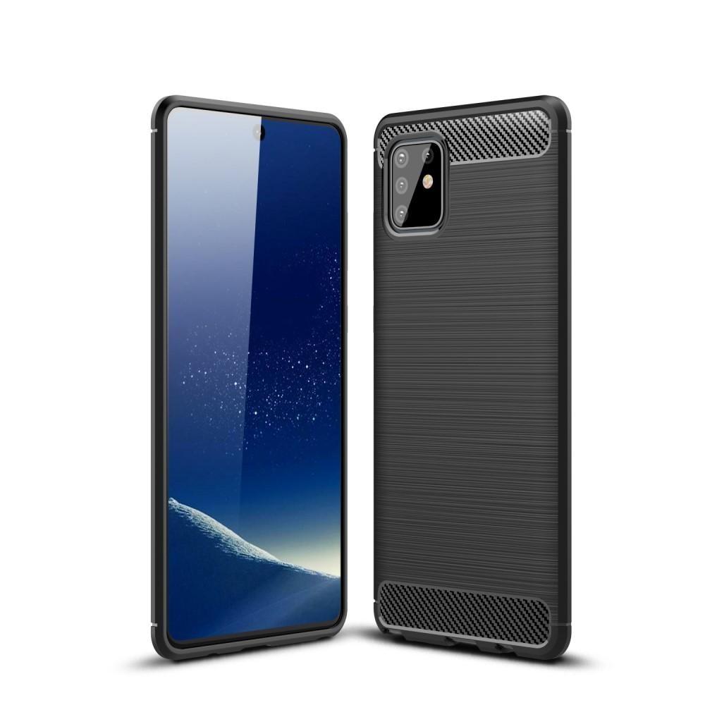 Brushed TPU Deksel Samsung Galaxy Note10 Lite Black