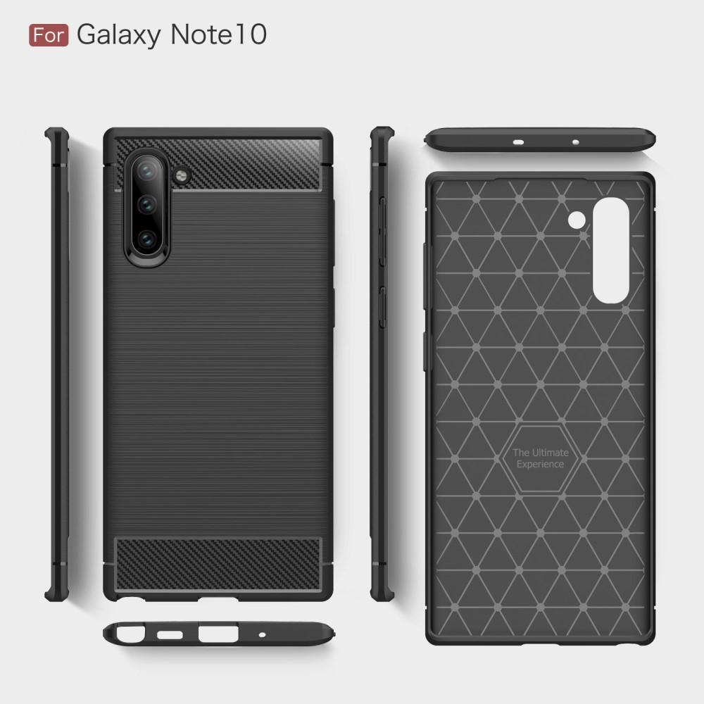Brushed TPU Deksel Galaxy Note 10 Black