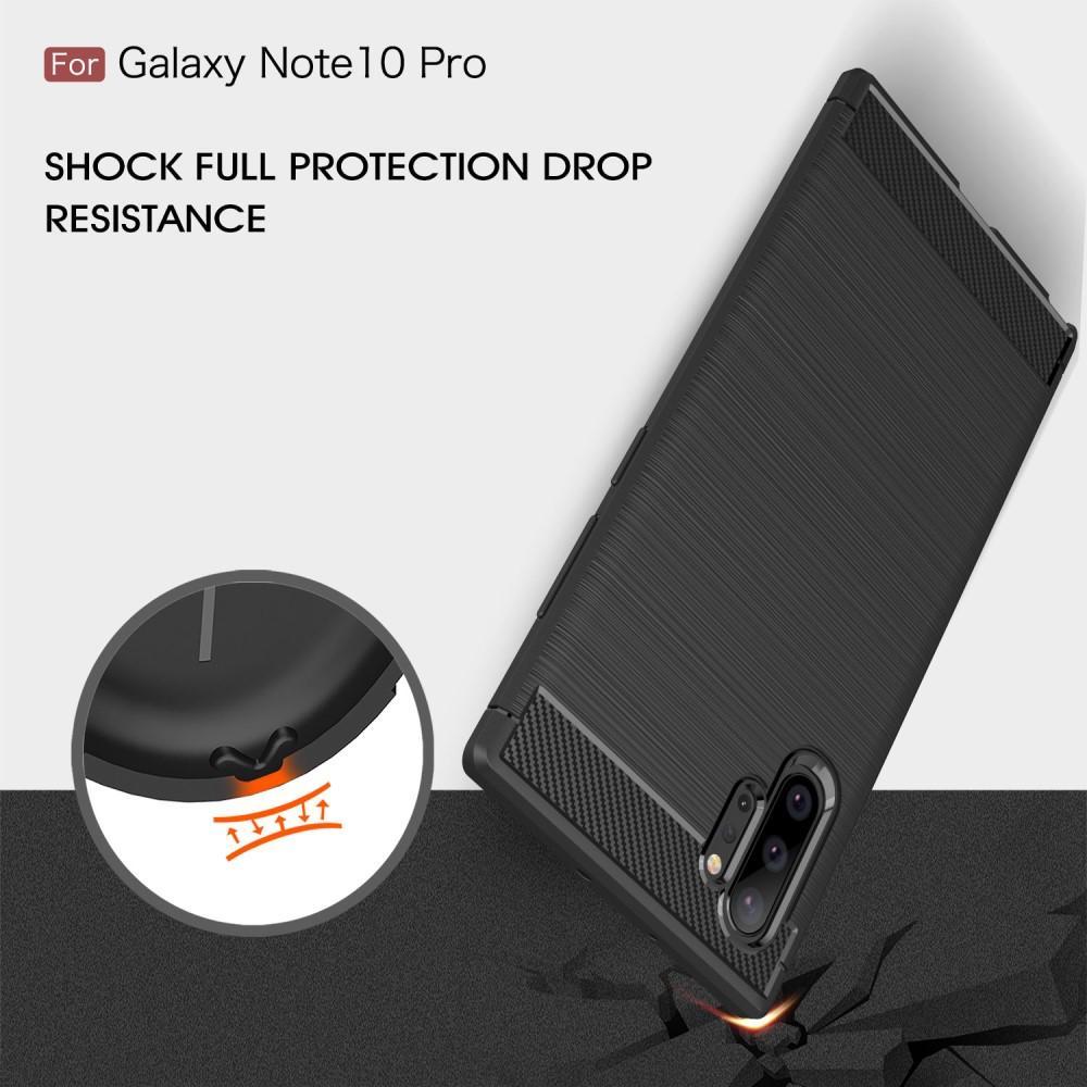 Brushed TPU Deksel Galaxy Note 10 Plus Black